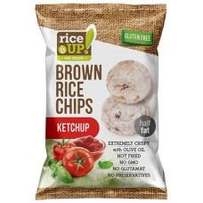 Celozrnné ryžové čipsy - kečup