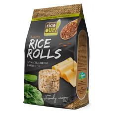 Celozrnné ryžové krúžky - špenát, syr , olivový olej
