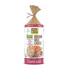 Chlebíčky z hnedej celozrnnej ryže 7 super semien