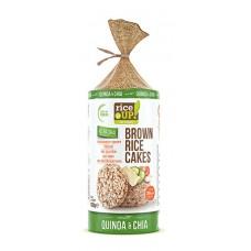 Chlebíčky z hnedej celozrnnej ryže Chia Quinoa